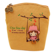 Gilroy Girls Canvas Small Wallet Card Holder Coin Purse