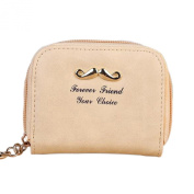 Gilroy Faux Leather Polished Small Wallet Coin Purse with Cute Beard