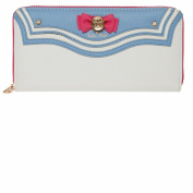 Indressme Womens Cute Bowknot Bifold Card Case Phone Multifounctional Wallet
