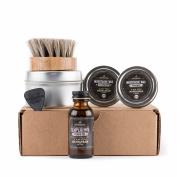 Basic Beard Care Kit - Temperance Beard Oil Bottle