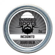 Beard Balm-Incognito (Unscented) -Best Moisturiser for Dry Itchy Beard- Top Gifts for Men-All Natural Beeswax,Jojoba,Argon, Grape Seed and Babassu Oils-