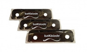 "NEW! 3 PIECE SET - baKblade ""BIGMOUTH"" Do-It-Yourself Back Shaver Replacement Set"