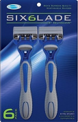 1 Count - Reliashave 6 Blade 6 Pack Men's Superior Quality Razors