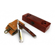 A.P. Donovan - Excellent 2.2cm straight razor - mahogany handle - with strop and wax