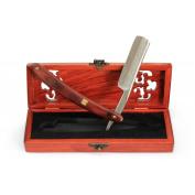 A.P. Donovan - Luxury 2.2cm straight razor with damask pattern - Mahogany