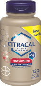 Citracal Maximum Caplets with Vitamin D, 120-Count