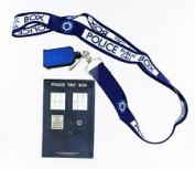 Doctor Who TARDIS Lanyard with 3D TARDIS Charm