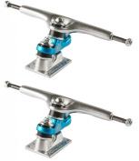 Sector 9 25cm Gullwing Sidewinder Skateboard Trucks, Raw/Blue/Raw, One Size
