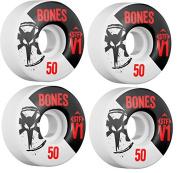 Bones Skateboard Wheels 50mm STF V1 Skinny White