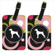 Pair of 2 Weimaraner Luggage Tags