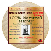 P & F(12 pack)Natural Reusable Coffee Filters for Aeropress Coffee Maker-FULL TASTE-NO HARMFUL CHEMICAL IN YOUR COFFEE ANYMORE - 100% Natural Coffee Filters