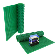 Brick Building Play Mat - Rollable, Two Sided Silicone Mat - Works with Lego and Duplo - 41cm Portable and Perfect for Activity Tables