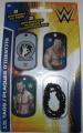 WWE John Cena Randy Orton Brock Lesnar ID Dog Tags With Chain Series 2 - Set R - 3 Count