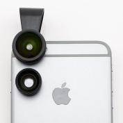 Ansel Lens BrightGlass I | 3-in-1 Universal Clip-on Cell Phone Camera Lens Kit - 180 Degree Fisheye + Wide Angle + 10X Macro