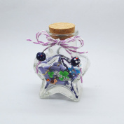 Star Shaped Jar Glass Favour Bottle with Cork 7.6cm 40ml Message Wedding jar bottle favours