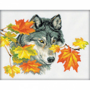 RTO 14 Count Wolf Counted Cross Stitch Kit, 31cm by 24cm