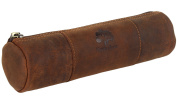 Vintage Style Pen Pencil Case Leather Pouch for Students Professionals and Artists