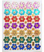 Jazzstick 350 Glitter Smiling Flower Decorative Sticker 10 sheets