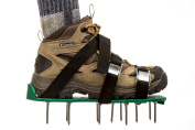 Heavy Duty Lawn Aerator Shoes with 3 Sturdy Straps and Metal Buckles