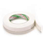 Velishy(TM) Double Sided White Foam Sticky Tape Roll 1.8*300 cm