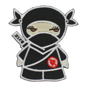 Black Ninja Iron On Patch For Kids Baby - High Quality