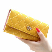 Jastore® Elegant Lady Women Clutch Crown Wallet Long Purse Leather Wallet