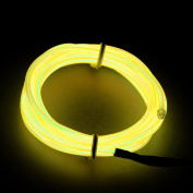 RioRand 4.6m Neon Light El Wire w/ Battery Pack for Parties, Halloween Decoration
