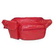 Leather Impressions Unisex Leather Velcro Pocket Fanny Waist Pack