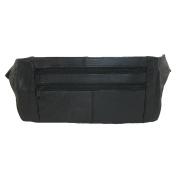 CTM® Leather Waist Pack, Black