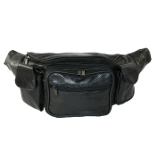 CTM Unisex Leather with Smart Phone Large Fanny Waist Pack