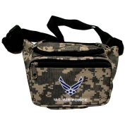 US Air Force Military Branch Logo Emblem Fanny Waist Pack Camo Print Bag