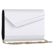 Mad Style 317824 Acrylic Slant Envelope Clutch, White