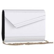 Mad Style 317824 Acrylic Slant Envelope Clutch, White