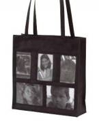 Joann Marie Designs NPH5PBL 5-Pocket Photo Tote - Black Pack of 2