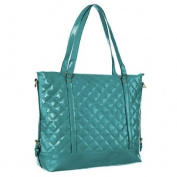 Mad Style 317867 Patent Leather Quilted Candy Tote, Teal