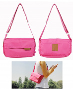 JAVOedge Fabric Pink Anti-Theft Cross Body Travel Messenger Bag with Adjustable Strap and Bonus Reusable Storage Bag