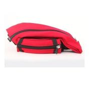 SPIbelt Unisex Spandex Expandable Messenger Shoulder Bag, Red