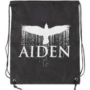 Aiden Bird Drawstring Backpack Black
