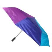 ShedRain Unisex Jumbo 2 Person Vented Rainbow Colour Auto Open Compact Umbrella, Rainbow