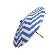 80cm Dark Blue Chevron Paper Parasol Umbrella