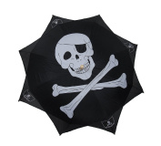Jolly Roger Skull & Crossbones Umbrella Pirate