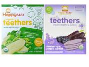 Happy Baby Organic Teethers Gentle Teething Wafers 2 Flavour Sampler Bundle