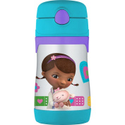 THERMOS Vacuum Insulated Stainless Steel 300ml Straw Bottle, Doc McStuffins