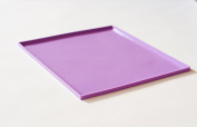 Silicone Placemats for kids with raised edges, easy to clean dishwasher safe, portable for use wherever your child needs a clean eating surface. Colour/Purple
