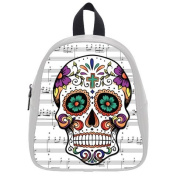 This school bag is much more suitable for kindergarten children/ Treasure Design Kid's School Bag (Small)/PU Leather/Backpack With Music Symbol Sugar Skull Theme