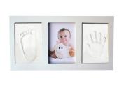 Tosnail Baby Handprint & Footprint Keepsake Photo Frame - White