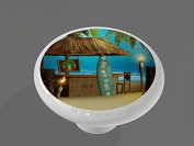 Tiki Beach Surfer Bar Gloss Ceramic Drawer Knob