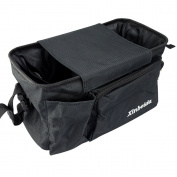 Deli Multifunctional Hanging Baby Stroller Bag - Pram Basket Bag/Nappy Bag Organiser/Nappy Bag/Stroller Trolley Bag/Stroller Storage Basket/Mummy Shoulder Bag Big Capacity Black