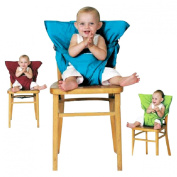 Portable Travel High Chair Booster Baby Seat Harness Washable Cloth Packable Sack
