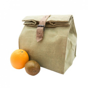 Waterproof Waxed Canvas All Purpose Lunch Bag Handmade by Hide & Drink